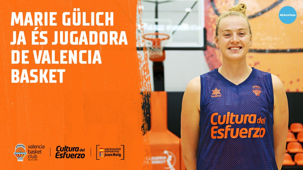 "🎥 @mary_gulitsch ya está en Valencia y es oficialmente jugadora taronja 🧡  Cas 👉 Gülich supera la revisión médica: ""Estoy muy contenta por estar en Valencia por fin"" https://t.co/oe7dFmooYg  Val 👉 https://t.co/zFxWnNJkUh  Eng 👉 https://t.co/LnYjHMRO7F  #EActíVate https://t.co/2Rnv8nCaIa"