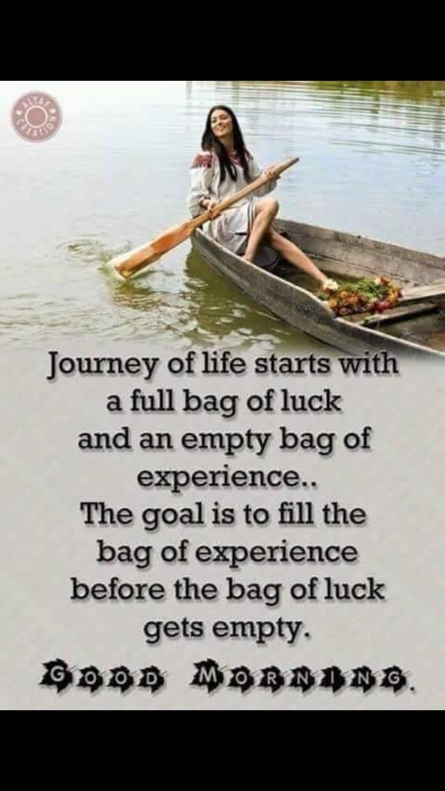 Bag of #luck and #experience https://t.co/BmbMFTLVly