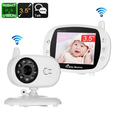 Wireless nanny cam comes with crisp 3.5-Inch display for detailed viewing Night vision capabilities for up to 3 meters  Two-way audio allows you talk to your baby from the other room Temperature sensor makes sure your kid never gets too hot or cold https://t.co/s5AokAOYLG
