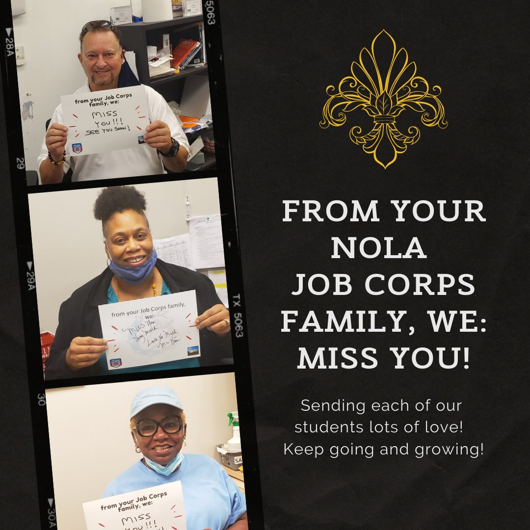 The #NewOrleansJobCorps is sending lots of love to its students! #live #learn #train @TheNJCA @CedricRichmond @BillCassidy @SenJohnKennedy @NOLAnews @WWLTV @wdsu @WGNOtv https://t.co/yRk5rxwL6X
