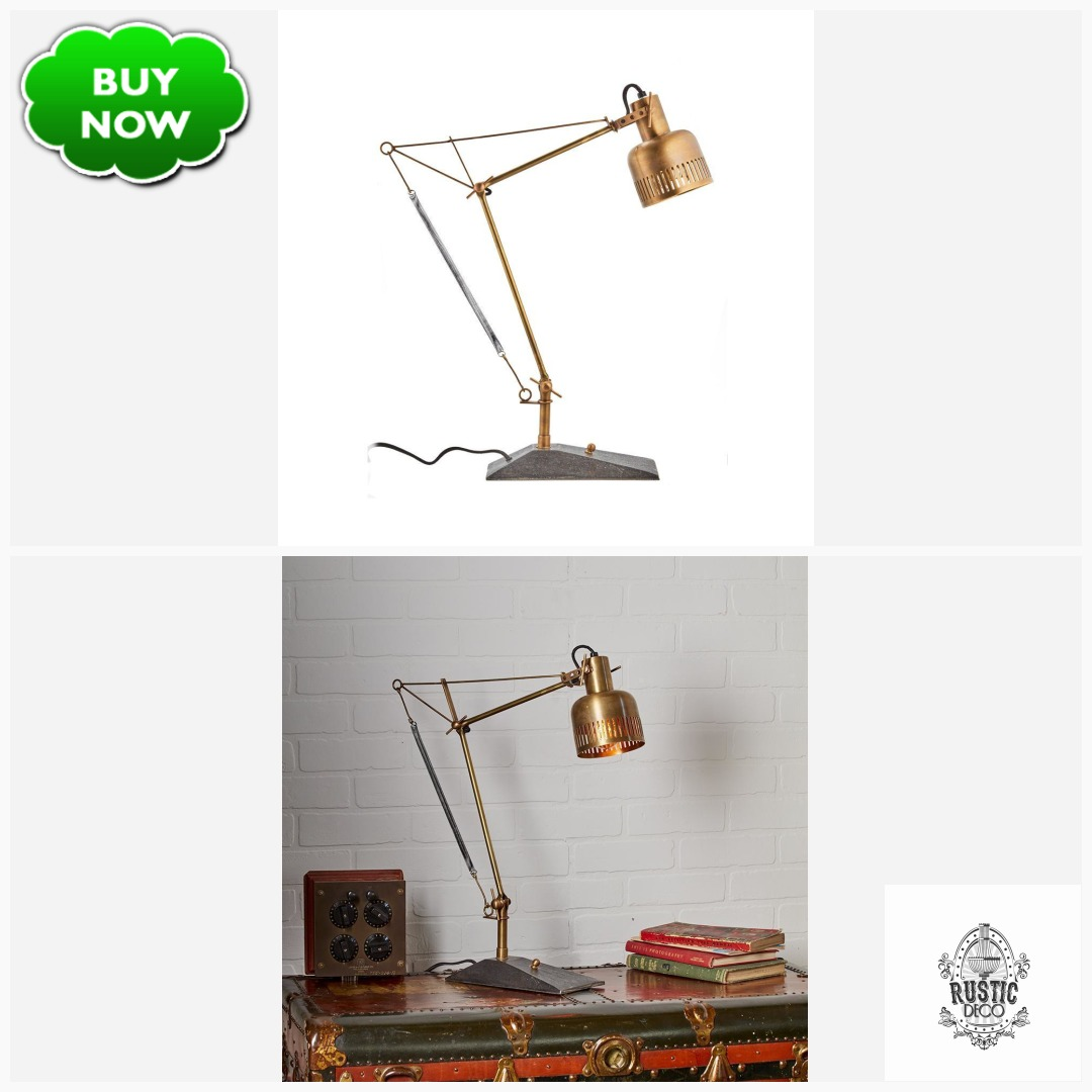"""#Design Awesome of the Day: #Steampunk-ish ⚙️ 'Prague Table Lamp' Solid Brass Desk Lamp💡 28"""" High via @Rustic_Deco #SamaDesign"""