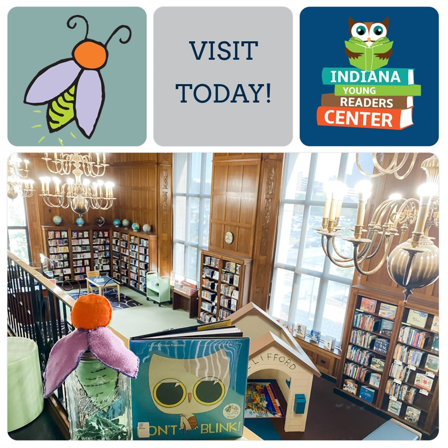 """Call 317-232-3719 to book an appointment to visit the Indiana Young Readers Center. Read all of the 2020 Firefly-nominated books, including the winner """"Don't Blink."""" If your family is at home eLearning, this is the perfect location for a morning or afternoon away! #library #indy https://t.co/DdnY5uASEf"""