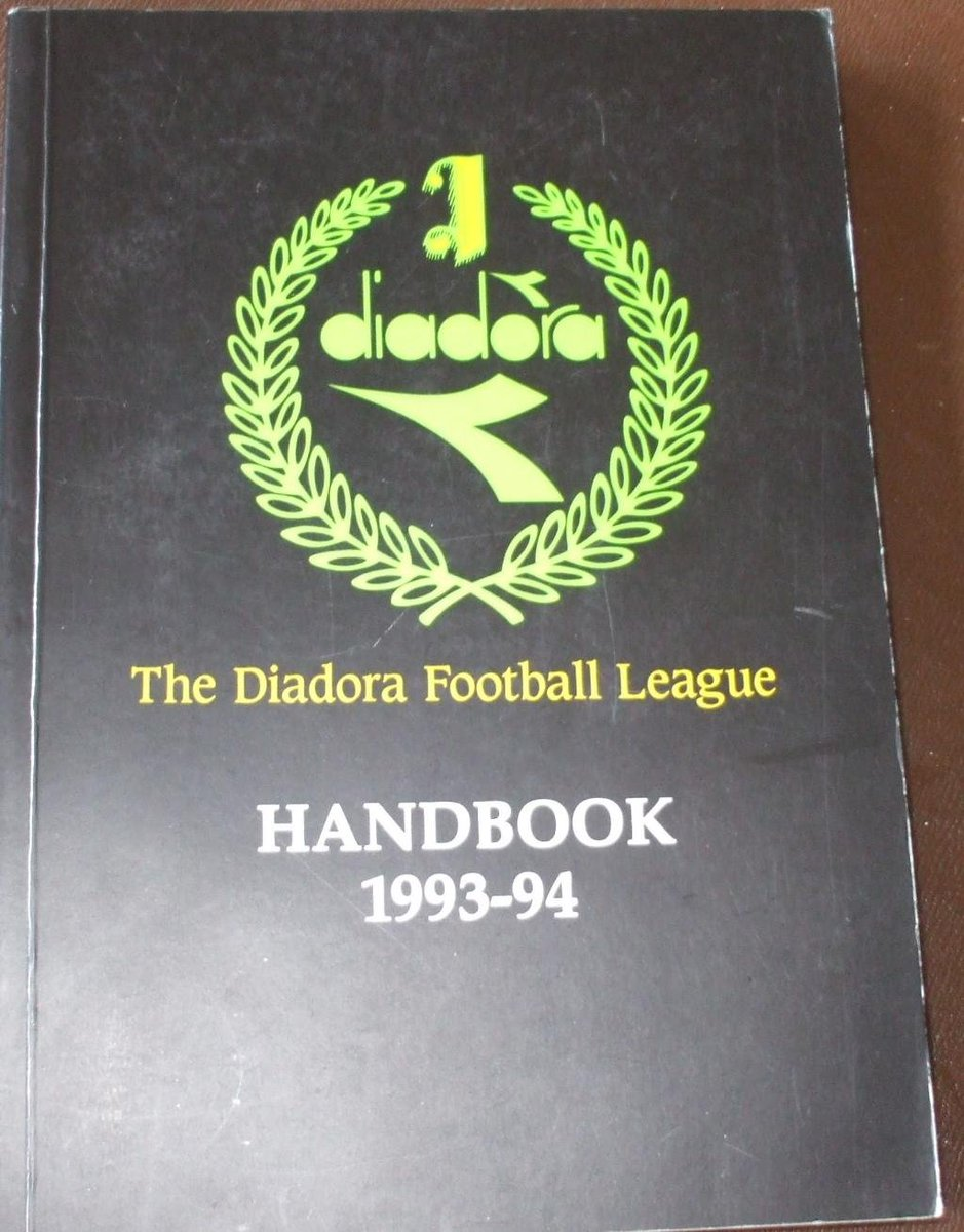 KICK-INS AND THROW-INS:   In the mid 90's, the Diadora League – the equivalent to the National League South – trialed a controversial new initiative from FIFA. Players could kick the ball back into play, providing they raised their arms first. Here lies maybe the only evidence... https://t.co/zG8qMFU1YG