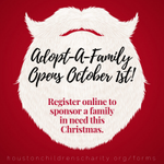 Image for the Tweet beginning: Our Adopt-A-Family program opens October