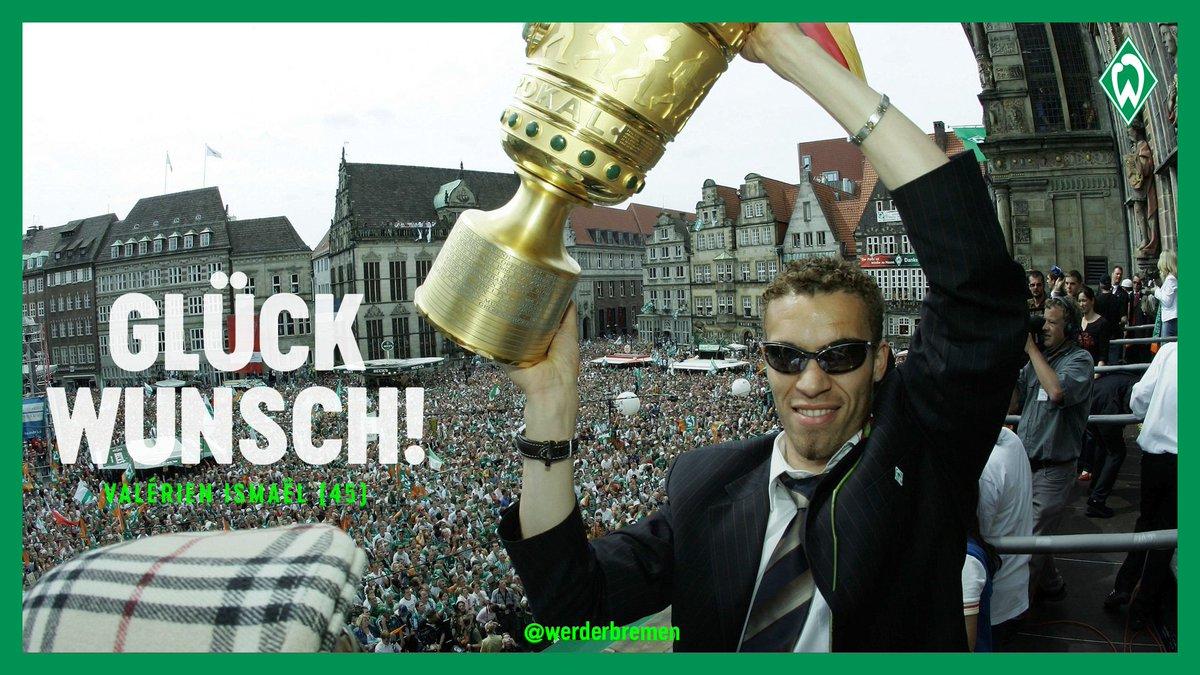 Alles Gute zum Geburtstag, Double-Sieger @valerien_ismael! 🎁🏆   #Werder https://t.co/v188bjYA6Q
