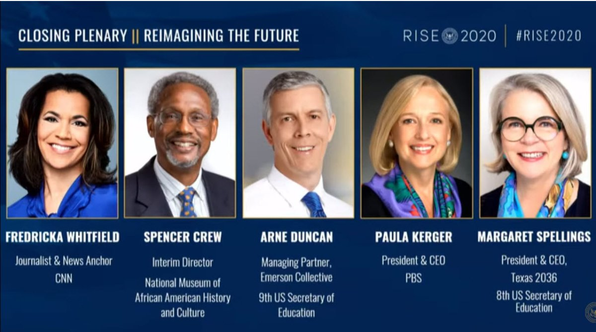 Thank you @paulakerger and @arneduncan. We've lots of work to do and kids are counting on us. @ReaganInstitute #RISE2020 https://t.co/0sv53wlEDN https://t.co/oY3QM1pcg4