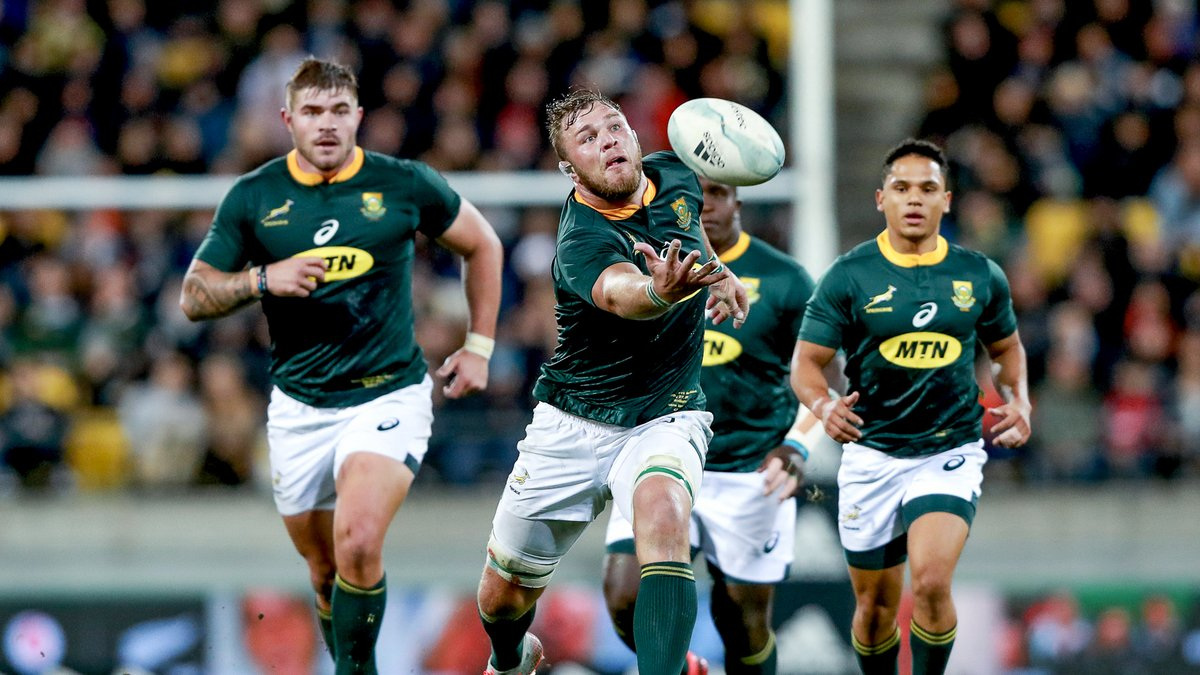The last time the Springboks faced the All Blacks in the Castle Lager Rugby Championship, the Test ended in a 16-16 draw. Do you remember who scored the final try in this test that helped the Boks win the Castle Lager Rugby Championship in 2019? 🤔 #StrongerTogether @MTNza