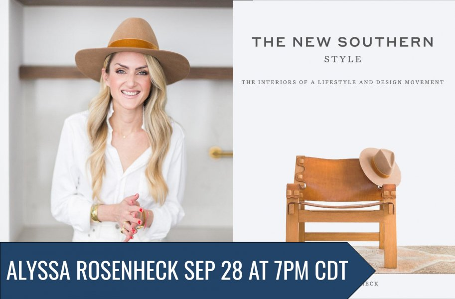 2day 7pm @BookPeople: @AlyssaRosenheck discussing The New Southern Style (in conversation with Paige and Smoot Hull) lonestarliterary.com/content/bookis… @ABRAMSbooks ZOOM #LoneStarLit