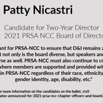 Image for the Tweet beginning: Meet Patricia Nicastri, candidate for