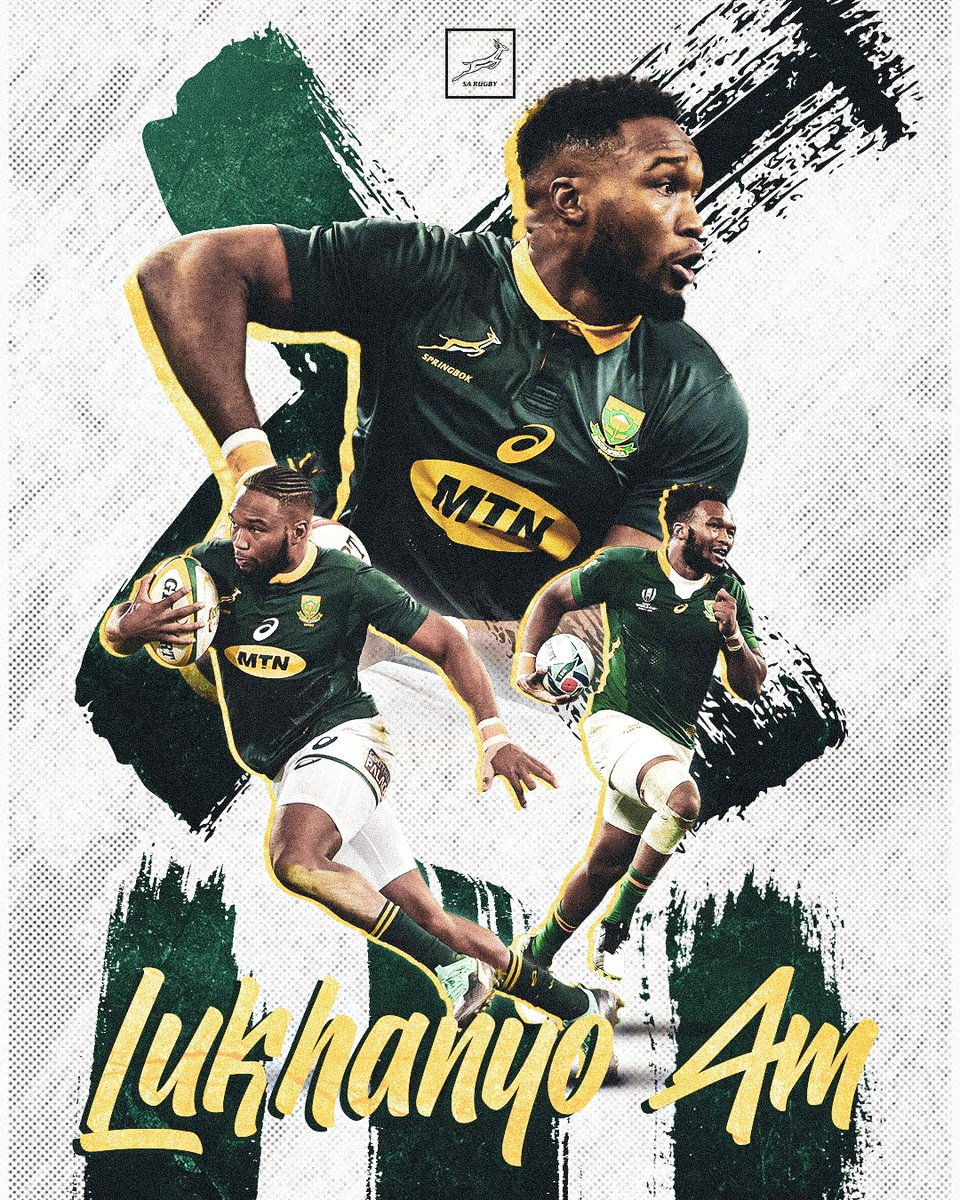 Lukhanyo Am played a pivotal role in our World Cup success. Like this to show your appreciation for the world-class outside centre. 💚 #StrongerTogether @MTNza
