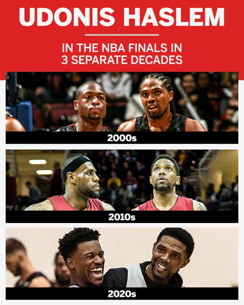 3 decades. 6 @NBA Finals. Udonis Haslem, a true OG 🙌