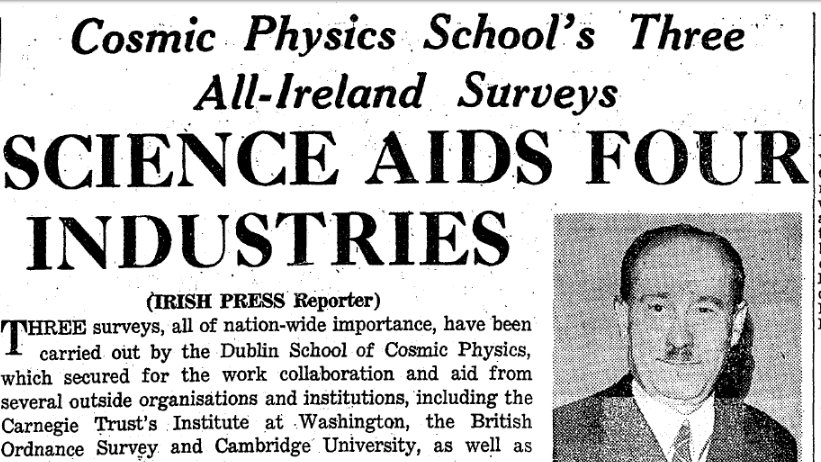 test Twitter Media - Date: 25 April 1951 Paper: The Irish Press Synopsis:  How did the DIAS led, All Island Magnetic Survey, Gravity Survey, and Agricultural meteorological survey come to pass? With a little help from local and international agencies. (1/3) https://t.co/1I2hW9mr76