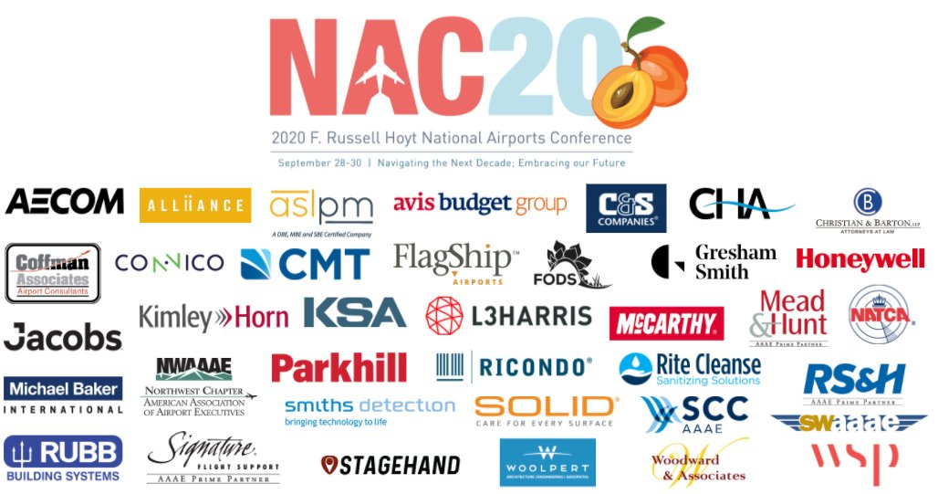 Welcome to #NAC20 - the first virtual National #Airports Conference! We're so excited to have more than 80 airports participating in addition to our generous sponsors. https://t.co/kkjsq7rrBl