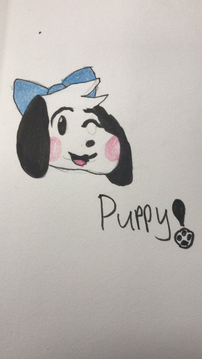 @pawpawchan48 I drew a Puppo! Dont let life getcha down; youre amazing!