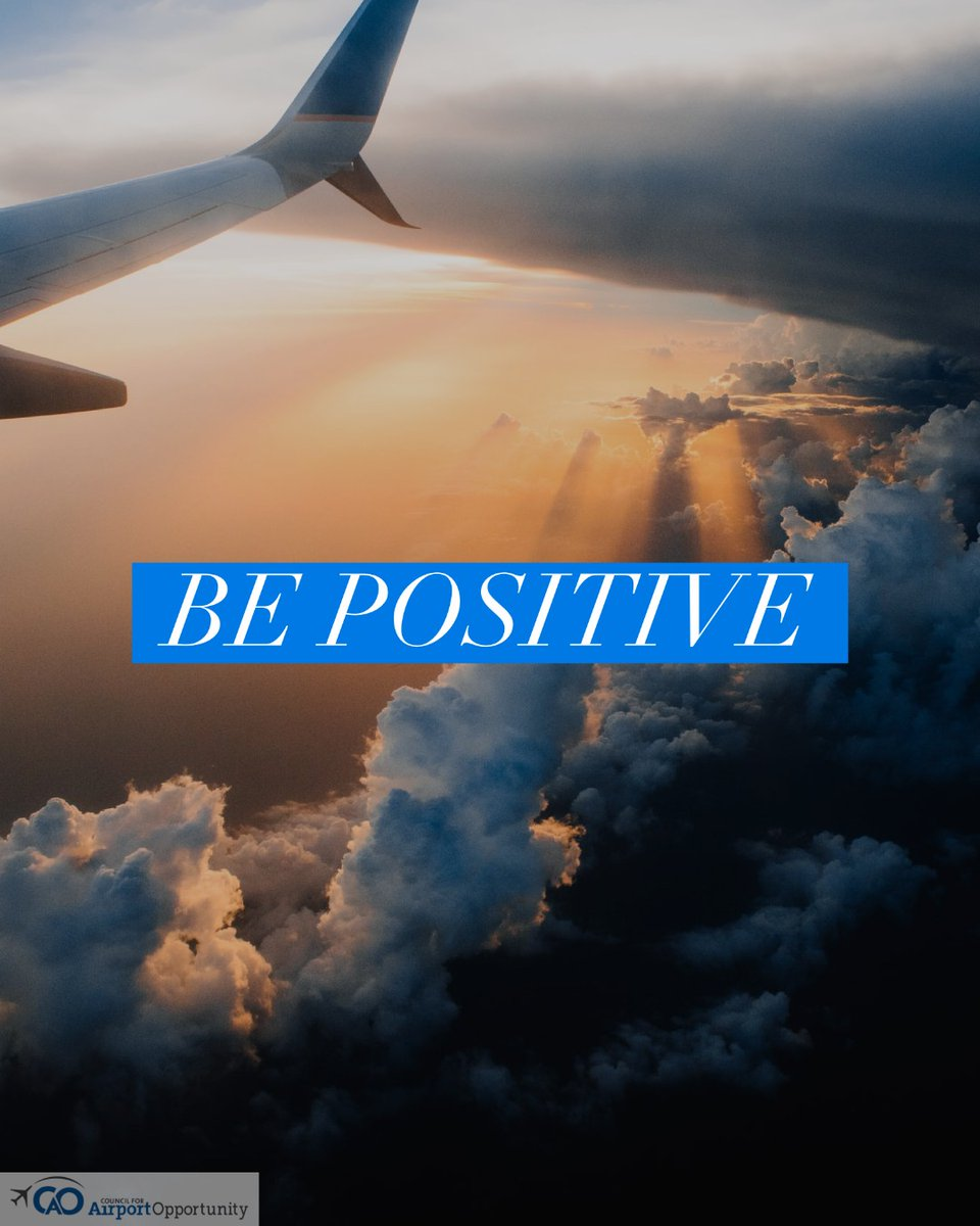 Think positive!   #airline #airport #airplane #aviation #jobs #wkdev #career #MondayMotivation https://t.co/HqYDLTZNVy