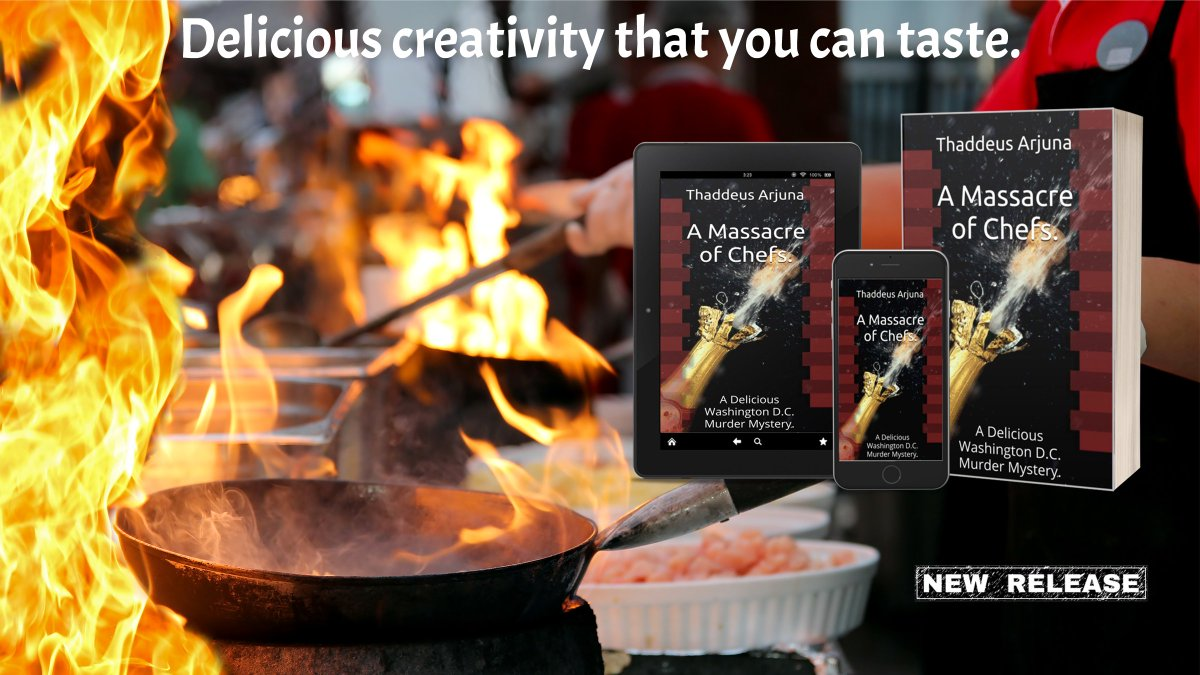 #RT @ThaddeusArjuna  A MASSACRE OF CHEFS   Written by a Washington insider, who tasted each and every dish.  https://t.co/qNIC3vP6nR  💥#KindleUnlimited💥  #Fiction #Thriller #bookstagram #Mystery #Action #Adventure #Suspense #WashingtonDC #amreading  #TBR https://t.co/rsZZRx1e3l
