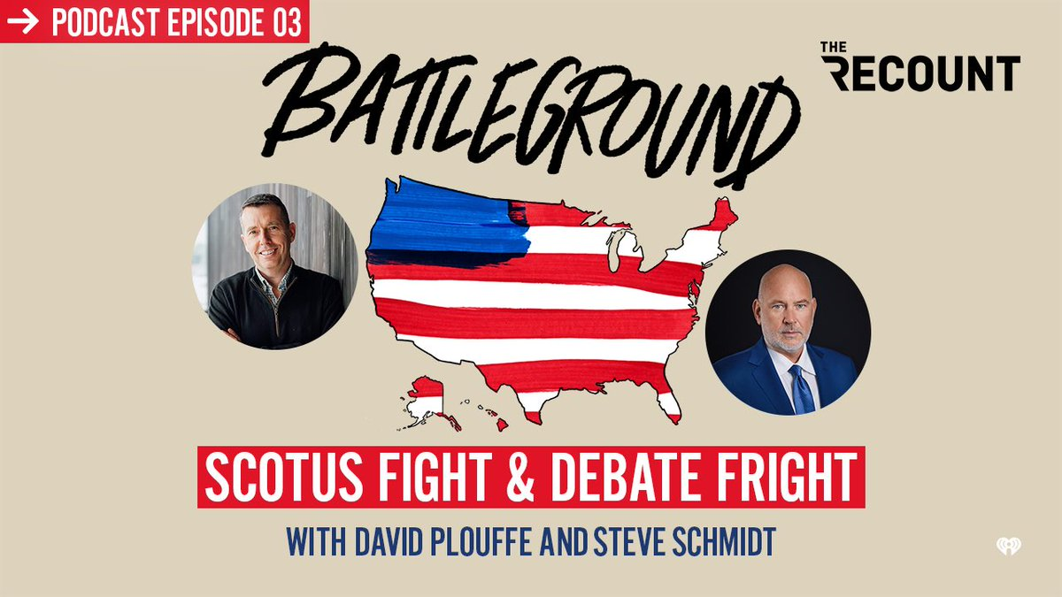 A debate for the ages. The Supreme Court. Steve and I talk to two brilliant people who have been in both arenas, @NicolleDWallace and @stefcutter, on this week's episode. Download here. https://t.co/zHu4mD5u93 https://t.co/2MCEewyo5M