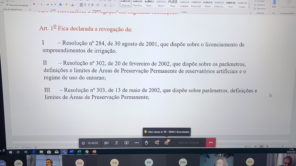 A reunião que vai decidir o futuro da proteção das áreas de restinga de todo o litoral brasileiro sera discutada ao Vivo no youtube. #forasalles #boiada #urgente #conama https://t.co/7FsawqT34Z