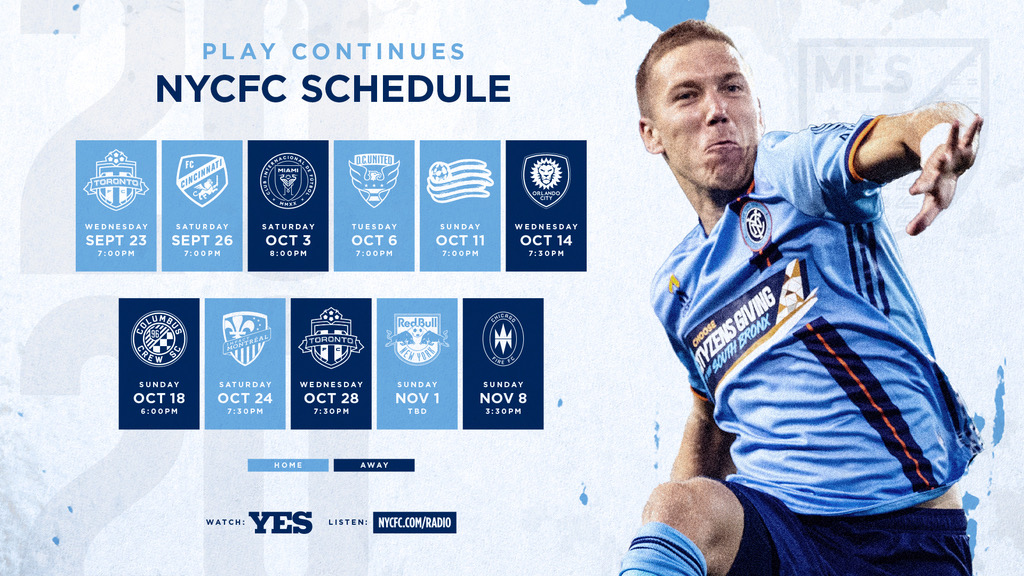 SCHEDULE UPDATE: #NYCFC's match at #Crew96 on Sunday, October 18 has been moved to 6:00PM ET.   The match will remain live on @YESNetwork and on radio in English and Spanish at https://t.co/KU00k8jGgi. https://t.co/hnadKIqV5H