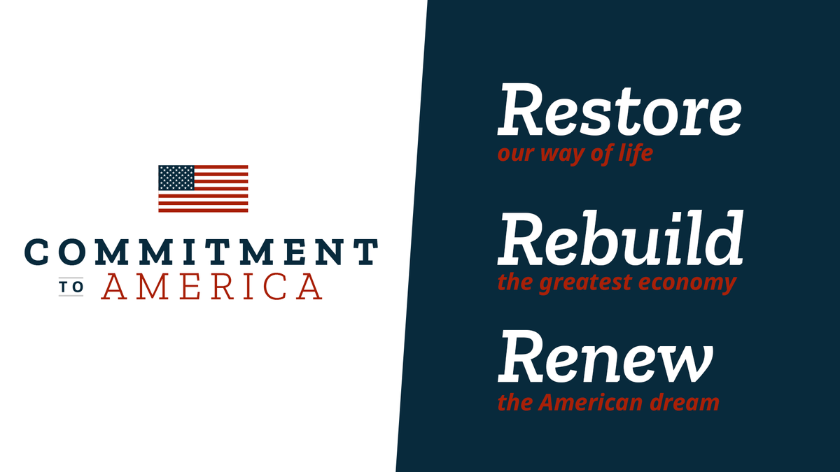 America is strong and resilient, and Republicans are dedicated to restoring, rebuilding, and renewing our country.  I thank @GOPLeader for his leadership and #CommitmentToAmerica, and I will continue to work with him to protect our values and way of life. https://t.co/rl3YHZwJg1