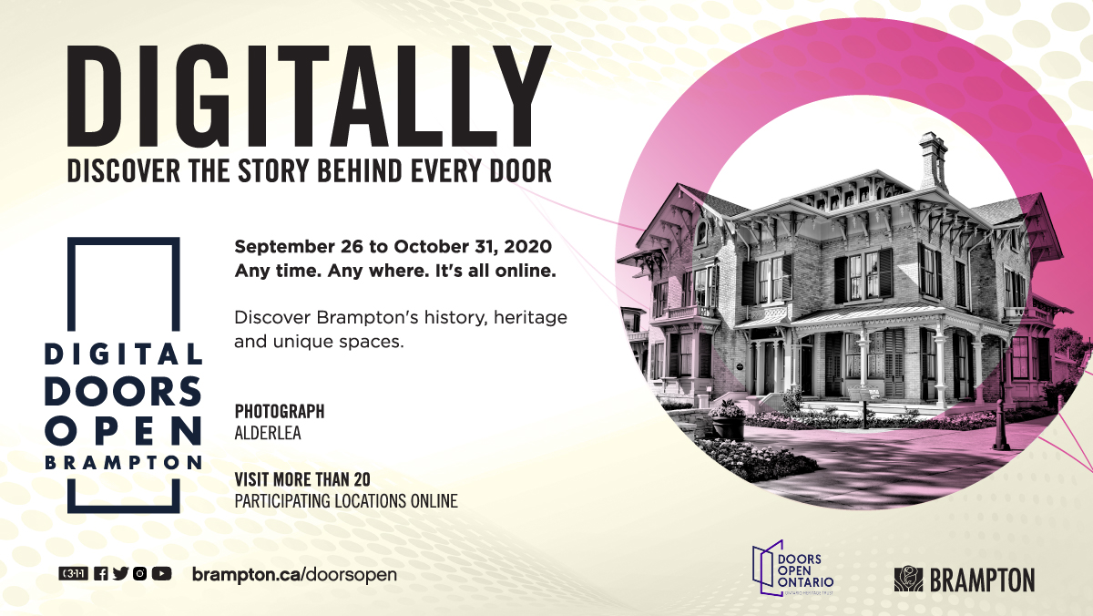 At this year's Digital Doors Open, you can experience Brampton's history, heritage and unique cultural spaces online. We've created a hub of tours, videos, photos and more of incredible places in our city, like the Alderlea! Explore now until Oct 31: https://t.co/Hvo8oGKTQI https://t.co/7vJQU1myfI