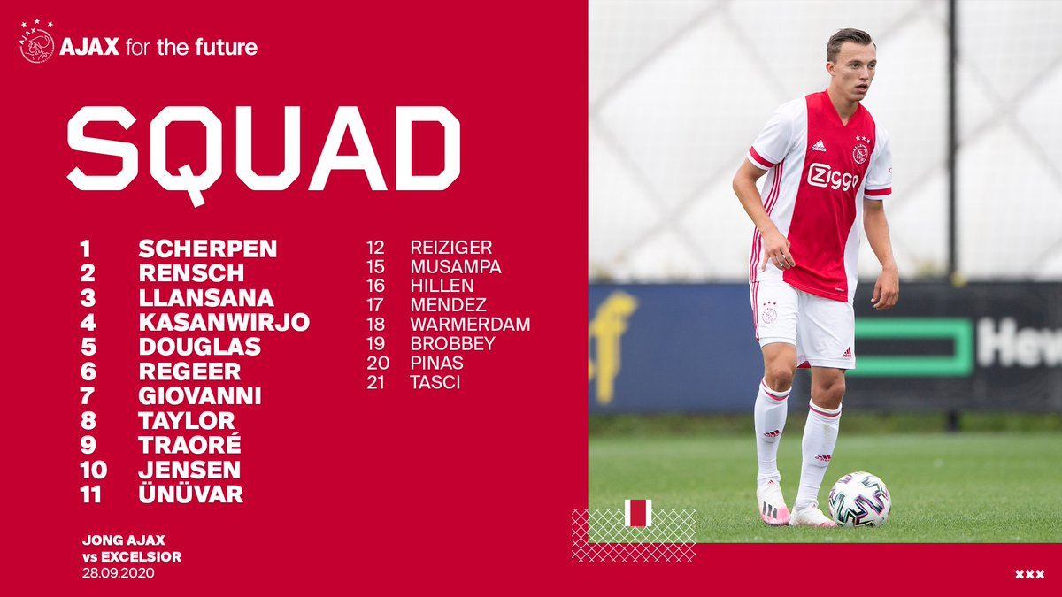 test Twitter Media - Back at it!   📂 Starting XI > #JongAjax ⌚️ 18:45h vs. Excelsior 👁 @FoxSportsNL 1  #jajexc https://t.co/O8VxM36Pkw