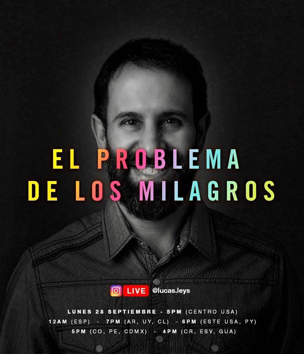 """Este es el #Live de hoy """"EL PROBLEMA DE LOS MILAGROS"""" ¡No te lo pierdas!   Desde el Instagram del Dr.  @LucasLeys   💪 #iglesia #Iglesianext #discipulado 🔥 https://t.co/NUAJSHRDUe"""