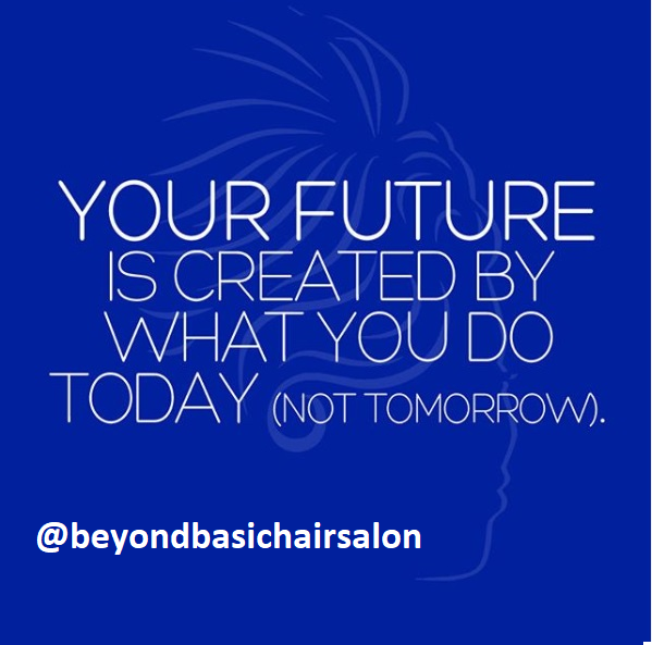 Here is some motivation for your Monday morning: Your future is created by what you do today... Not tomorrow. #beyondbasichairsalon #hairsalon #hairquote #motivation #future #hair #weekendvibes https://t.co/1c1vBKxP6d