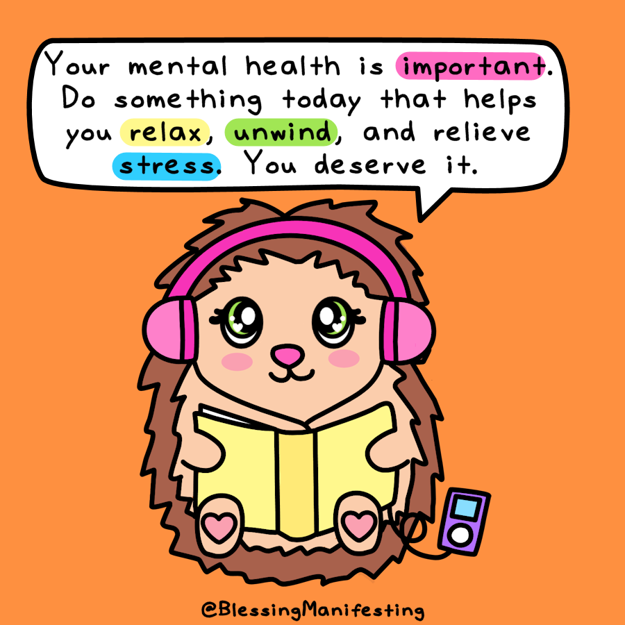 Your mental health is important. Do something today that helps you relax, unwind, or relieve a little bit of stress. #mentalhealthmonday https://t.co/cvvgAEWUxl
