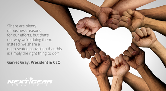 We're taking steps to make sure Next Gear is the place we want it to be – not only for today's employees but for tomorrow's too – regardless of age, country of origin, thought, background, gender, or color. We're all-in on this. https://t.co/2J8a26ikLl  #equality #equalityforall https://t.co/JiTwzLUkfX