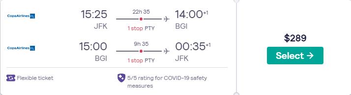 New York to Barbados for only $289 roundtrip (Jan-Jun dates) https://t.co/nApNxFiTj3 #travel #Flight #deals  https://t.co/x6QFKQAp0B https://t.co/zG2wf6Fgyb