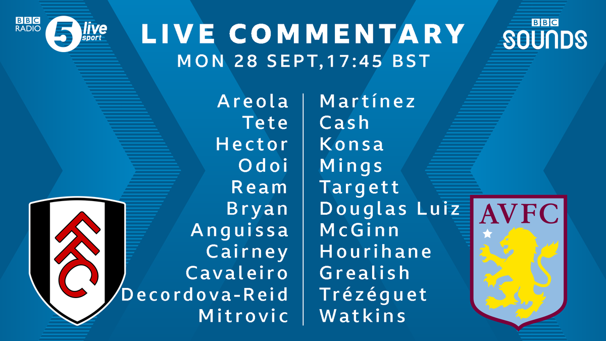 📝 #FULAVL team news  3⃣ changes for Fulham - captain Tom Cairney returns.  #AVFC unchanged from last #PL game, new signing Bertrand Traoré starts on the bench.  📲⚽ https://t.co/5Du5Yilmm1 #bbcfootball https://t.co/RibOfDNO8u