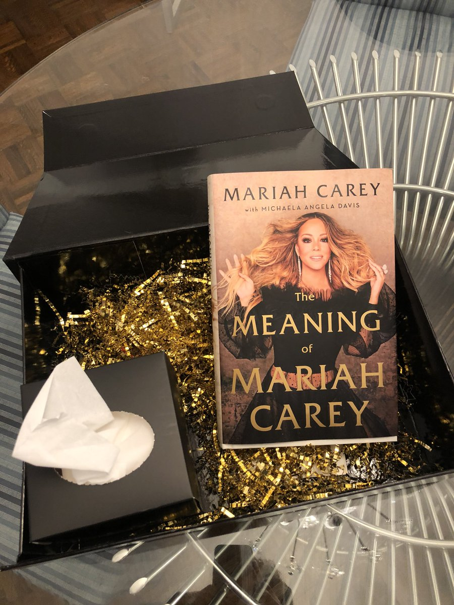 And just like that, a light through the darkness! THANK YOU @MariahCarey for this advance copy of THE MEANING OF MARIAH! And thanks for including tissues because I already cried watching you talk about LEONTYNE PRICE with @Oprah. Can't wait to dive in! Congrats MC!!! ❤️❤️❤️ https://t.co/bZHWJZy9Hl