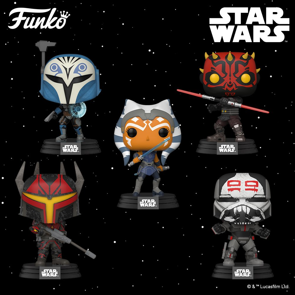 Increase your odds of surviving the Clone Wars with a new wave of characters from the popular final season!  https://t.co/UEhTD7NzCc  #StarWars #Disney #Funko #CloneWars #Pop #FunkoUK #FunkoEurope https://t.co/wv1QQ6koib