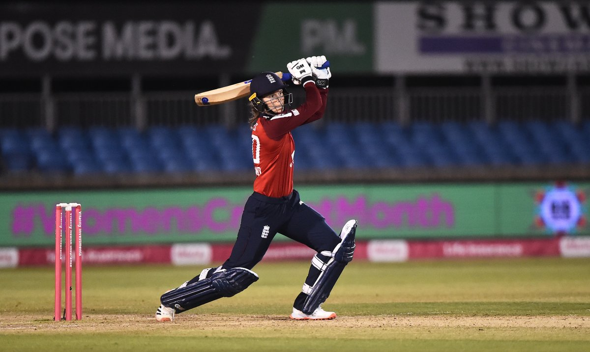 Amy Jones starred as England thrashed the West Indies to take a 4-0 lead in the five game series. Full report 👉 bbc.in/3kV6Pkb #bbccricket #ENGvWI #WomensCricketMonth