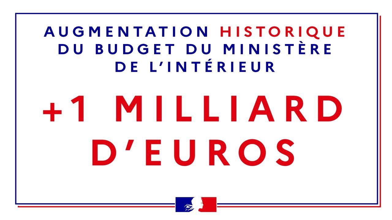 1 milliard d'€ en plus pour le ministère de l'intérieur