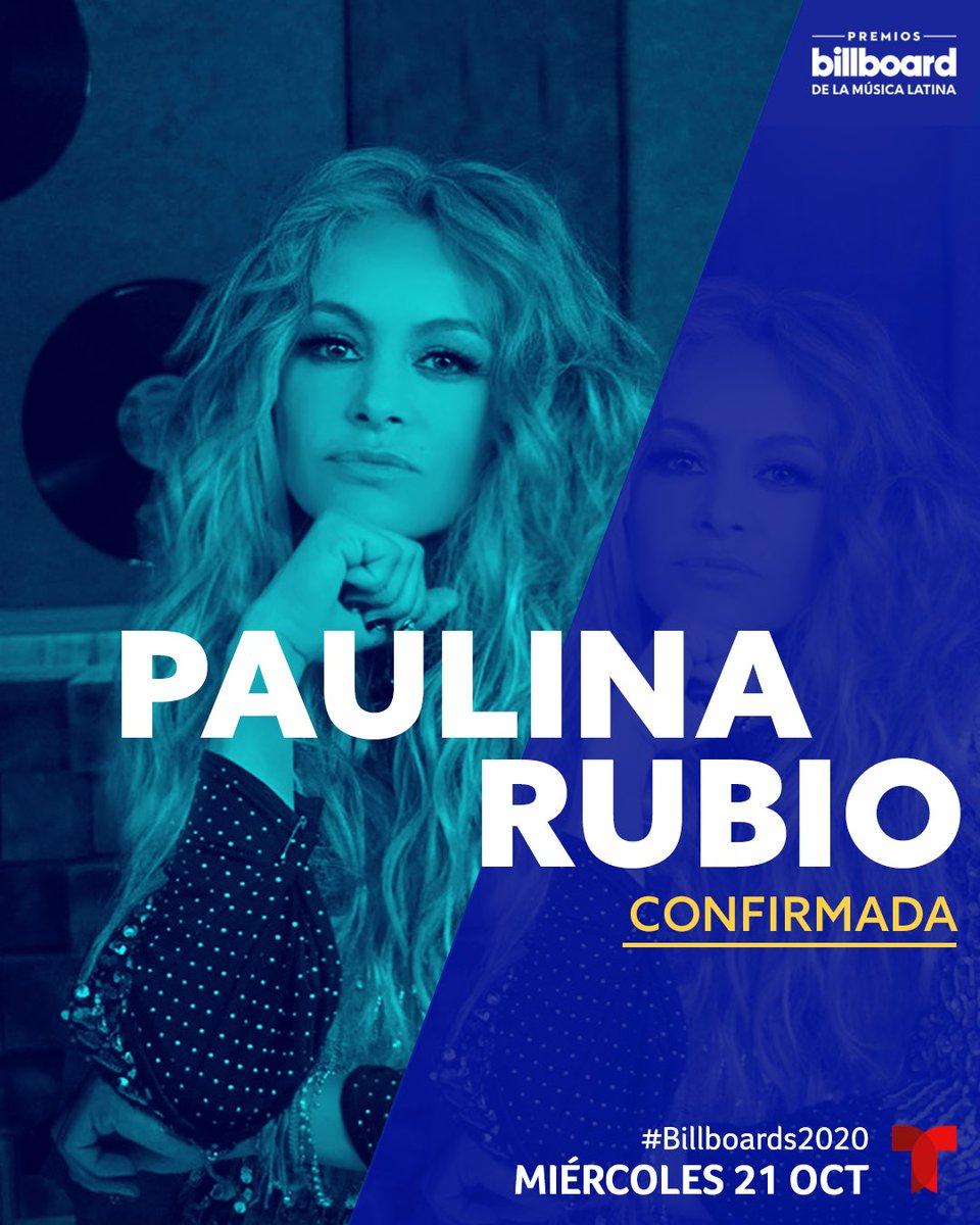 Presente en el escenario de @LatinBillboards el 21 de octubre desde las 7PM/6c por @Telemundo #Billboards2020 🔥🥰 #PauPower #rubiapeligrosa