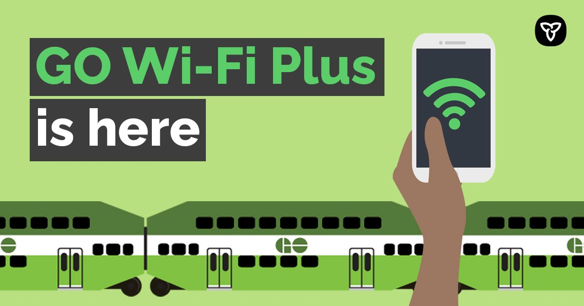 GO riders now have free internet and entertainment content! Our government is delivering on its promise to build a better transportation system to keep goods and people moving across Ontario. Learn more: news.ontario.ca/en/release/585…