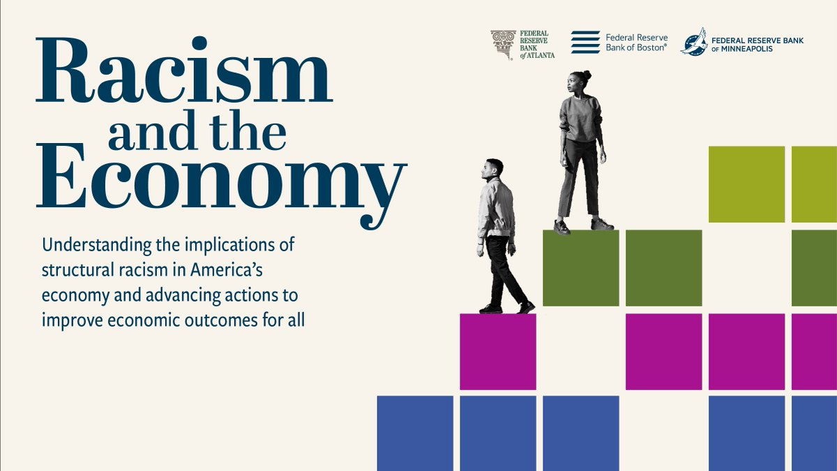 Join the @AtlantaFed, @BostonFed, and @MinneapolisFed for a series of virtual events, #RacismandtheEconomy. The series will examine the economic impact of racism and solutions to achieving an equitable economy. Register for the first event on October 7: https://t.co/4BLu6yVCd5 https://t.co/ngXiZ3ILOv