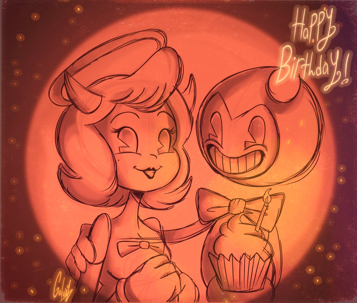💫 °• Happy Birthday, Angel •° 🎂 #Bendy_and_the_ink_machine #BENDY #batim #chapterthree #anniversary #birthday #BATIM #sketches #cartoonist #ArtistOnTwitter #digitalart