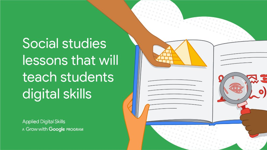 From digital skills 💻 to social studies 🌎, you can teach it all at once with #AppliedDigitalSkills. In honor of #BacktoSchool, new subject-specific digital lessons are now available. Get started: https://t.co/5OLgARlEKh. #GrowWithGoogle https://t.co/YE4cFUN147