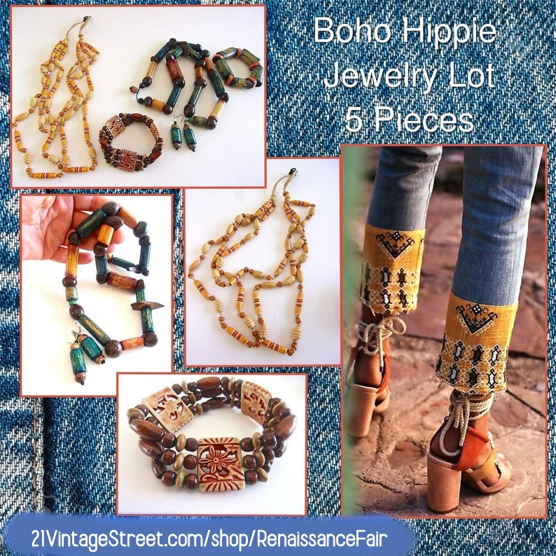 Wood Jewelry Sets 5 Pieces, Necklaces Bracelets Earrings, Boho Hippie Vintage #wooden #jewelryset #21vintagestreet #everythingvintage #earthycolors #natural #woodnecklace #woodbracelet #woodearrings #lotof5 #lot #handdyed #Boho #hippie #vintage #renaissanceshop https://t.co/QQoNVbkRpv