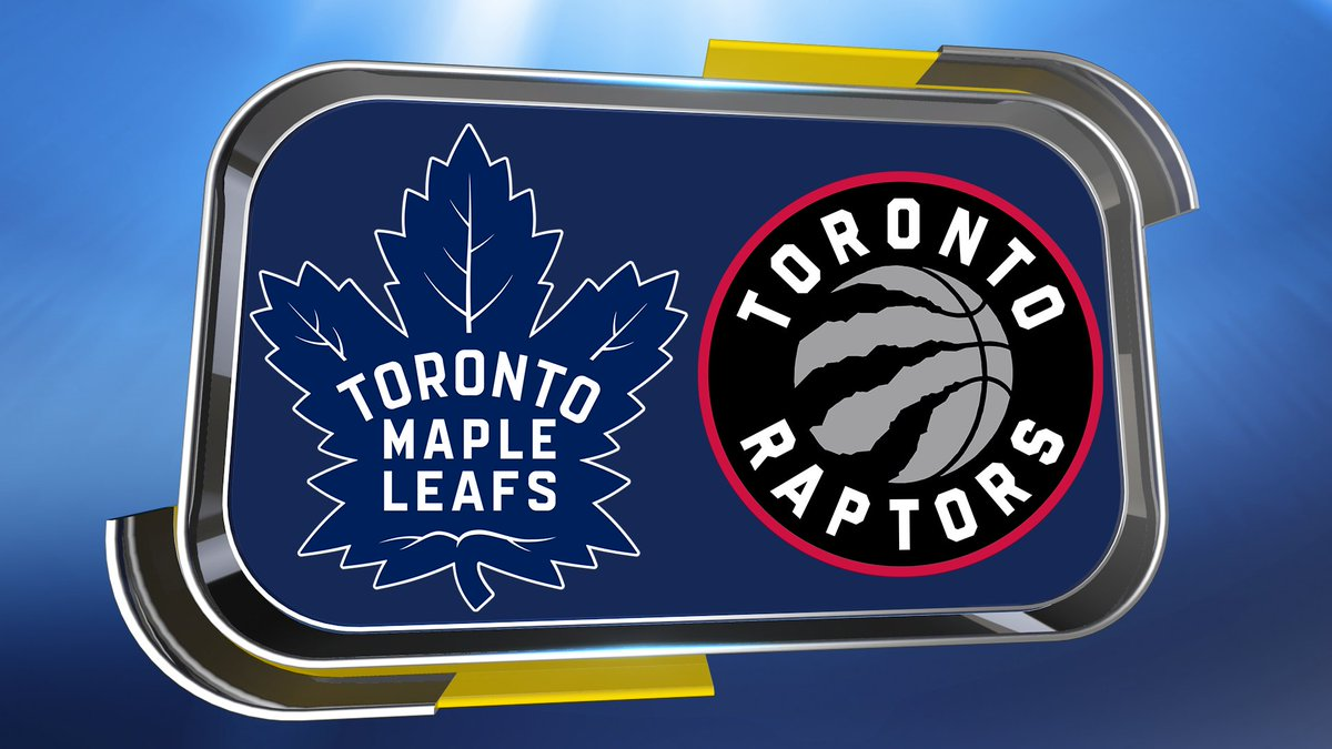 SPORTING LOGOS ANSWER 😃  @MapleLeafs & @Raptors  🏒🏀  So the city is Toronto  #QuestionofSport https://t.co/xWsaUH7UBV