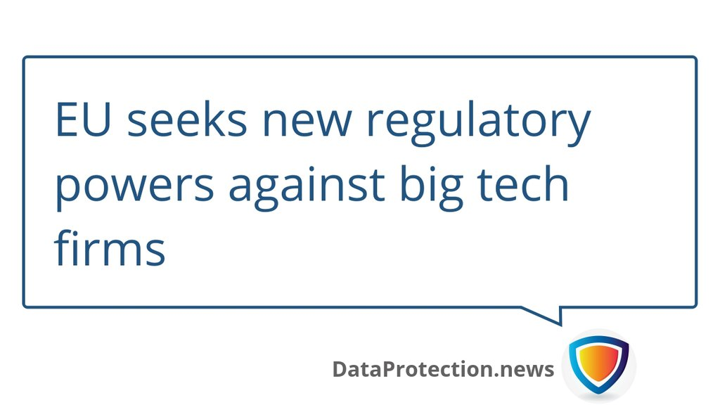 Powers could include the ability to exclude large tech companies from the single market altogether.  Read more 👉 https://t.co/JPWdVl9vcg  #SingleMarket #BigTech #Privacy #Dataprotection #EuropeanUnion #CyberSecurity #DataPrivacy #GDPR #TechCompanies https://t.co/JFaP16CNa1