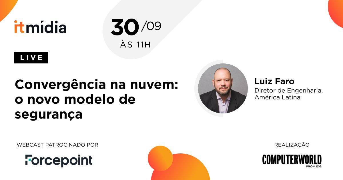 Para discutir como se preparar para garantir a segurança de dados e de usuários além das fronteiras da empresa, estaremos com Luiz Faro, diretor de engenharia da Forcepoint para a América Latina. Em um webcast ao vivo, quarta feira, 30/09 às 11h. Acesse: https://t.co/8dplUBuZ1C https://t.co/eFzl3W8y1r