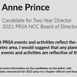 Image for the Tweet beginning: Meet Anne Prince, candidate for