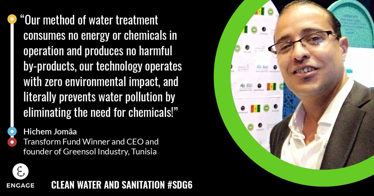 Transformer @JomaaHichemis the CEO & founder of Greensol Industry, the first company in #Tunisia that has created a water softener to be used in physics. 💧 Find out more about their commitment to #SDG6: fal.cn/3aB2A
