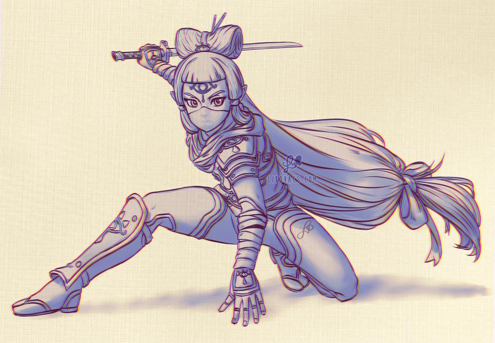 Li Kovacs ͘ð˜ºð˜³ð˜¶ð˜ð˜¦ On Twitter I Want Impa To Have The Sheikah Stealth Suit As An Alt Outfit In Hyrule Warriors Age Of Calamity Plz
