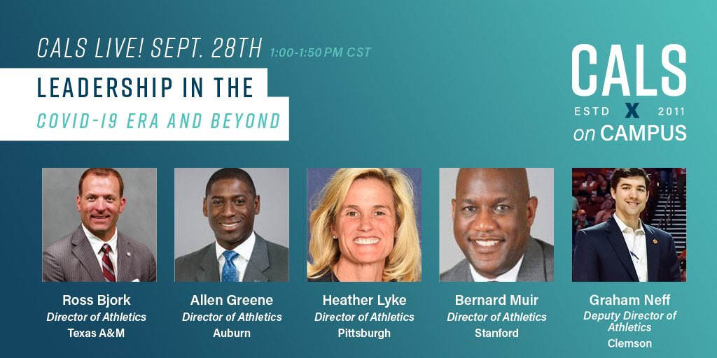 You do not want to miss this panel with @RossBjorkAD  @AGreeneIV @Pitt_LykeAD  @Stanford_AD & @GrahamNeff coming up at 1:00 PM Central Time! #cals20 https://t.co/KWwKpNvzkW