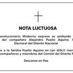 Image for the Tweet beginning: Nuestro partido expresa su profundo